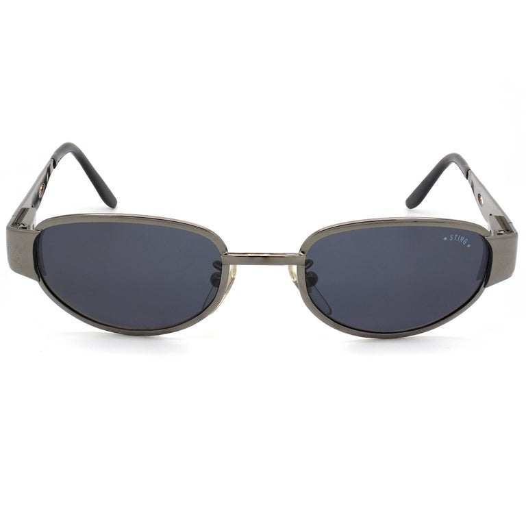 Sting is an iconic, world-class singer and performer. In the '80s, his design, along with the police brand which was his as well, captured the imagination of stylistic young people.  MAKE: Sting MODEL: 4304 - 673 MADE IN: Italy ERA: 1990s CONDITION: