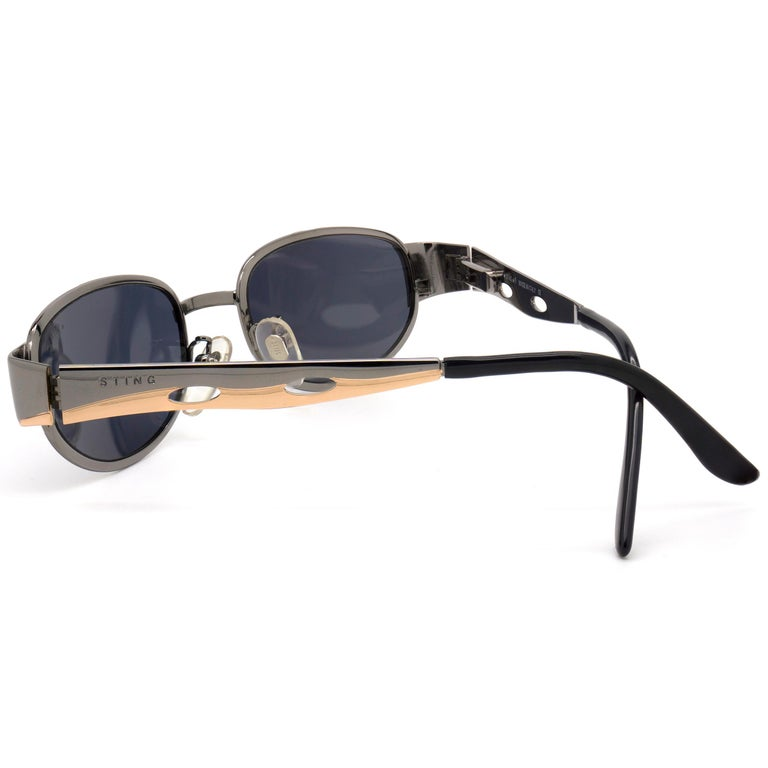 Gray Sting vintage sunglasses art deco, Italy 90s For Sale