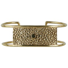 Lauren Newton Stingray Bar Cuff Bracelet in Textured Metal