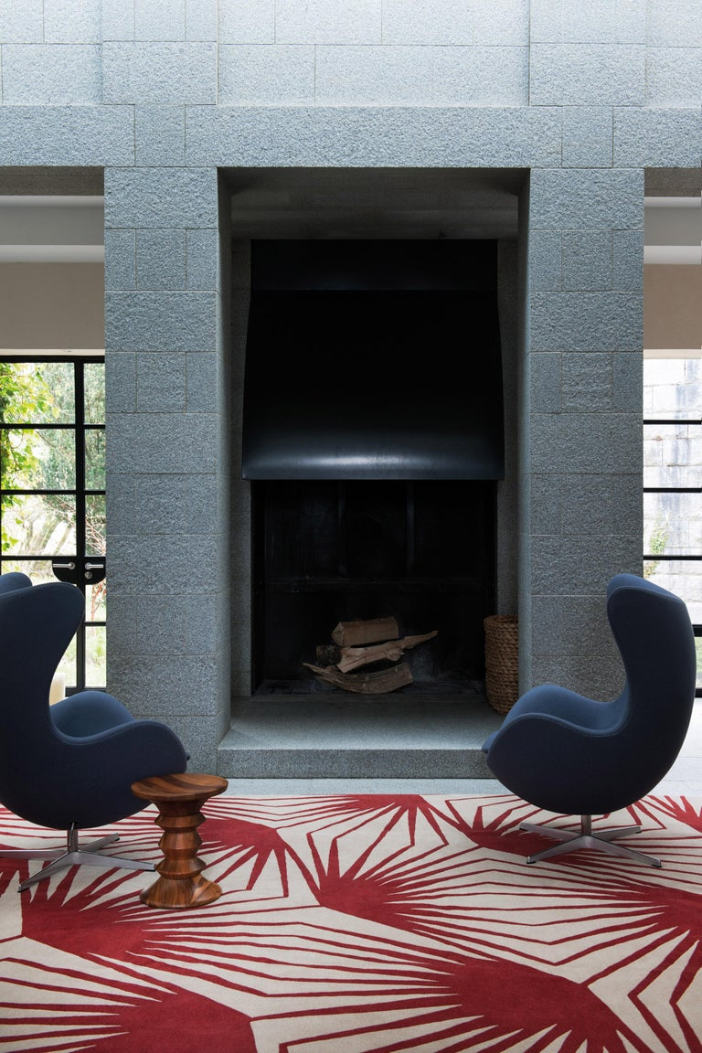 I gravitate towards and am most inspired by the integrity and unpretentious style of patterns and designs that are centuries old. Stingray was inspired by carved stones I found while travelling around India. I was enamored by the intuitive nature of