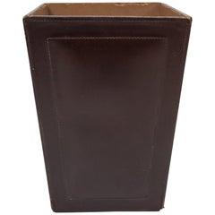 Stitch Leather Paper Basket