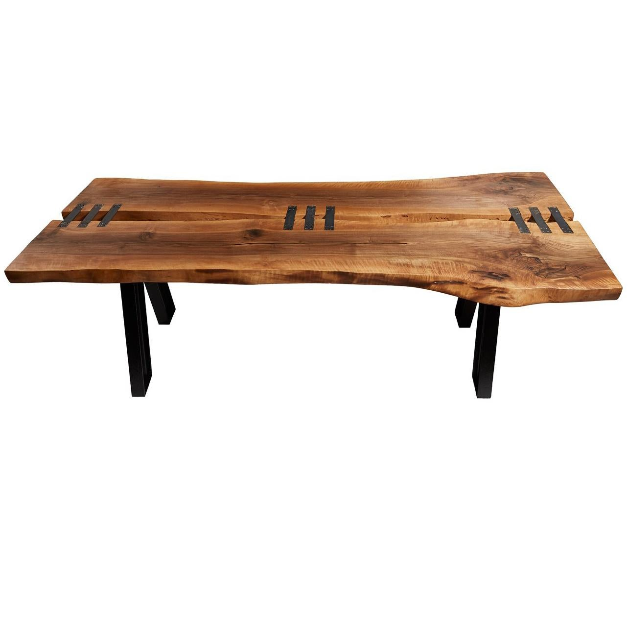 stitch walnut live edge dining table for sale at 1stdibs rh 1stdibs com live edge river dining table for sale live edge river dining table for sale