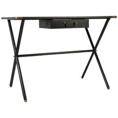 Stitched Leather Desk by Jacques Adnet