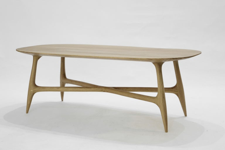 Contemporary Stix Coffee Table with Plate, Hand-Sculpted by Cedric Breisacher For Sale