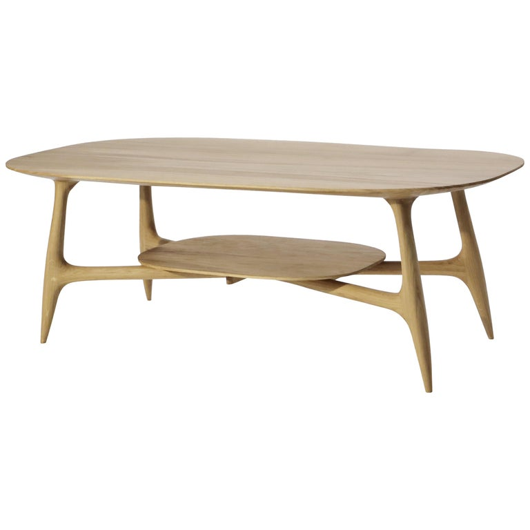 Stix Coffee Table with Plate, Hand-Sculpted by Cedric Breisacher For Sale