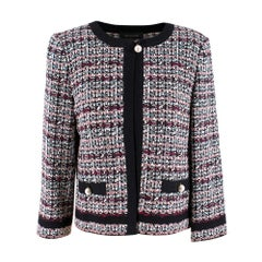 St.John flecked tweed jacket with pearl buttons US 6