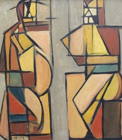 Cubist Man and Woman