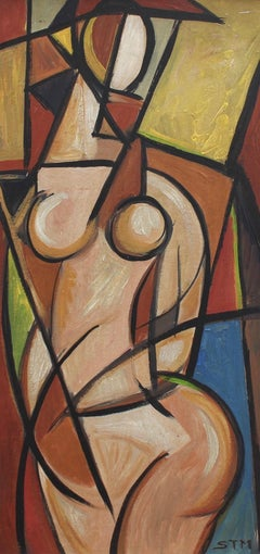 Standing Cubist Nude