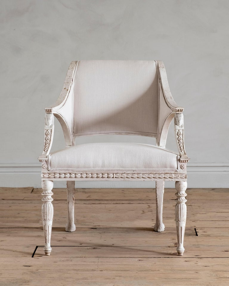 Swedish Stockholm, Gustavian Style Armchair For Sale