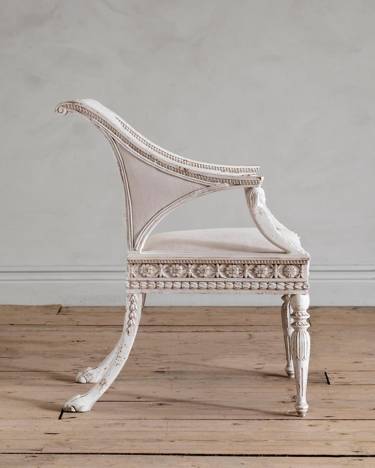 Stockholm, Gustavian Style Armchair In New Condition For Sale In Helsingborg, SE