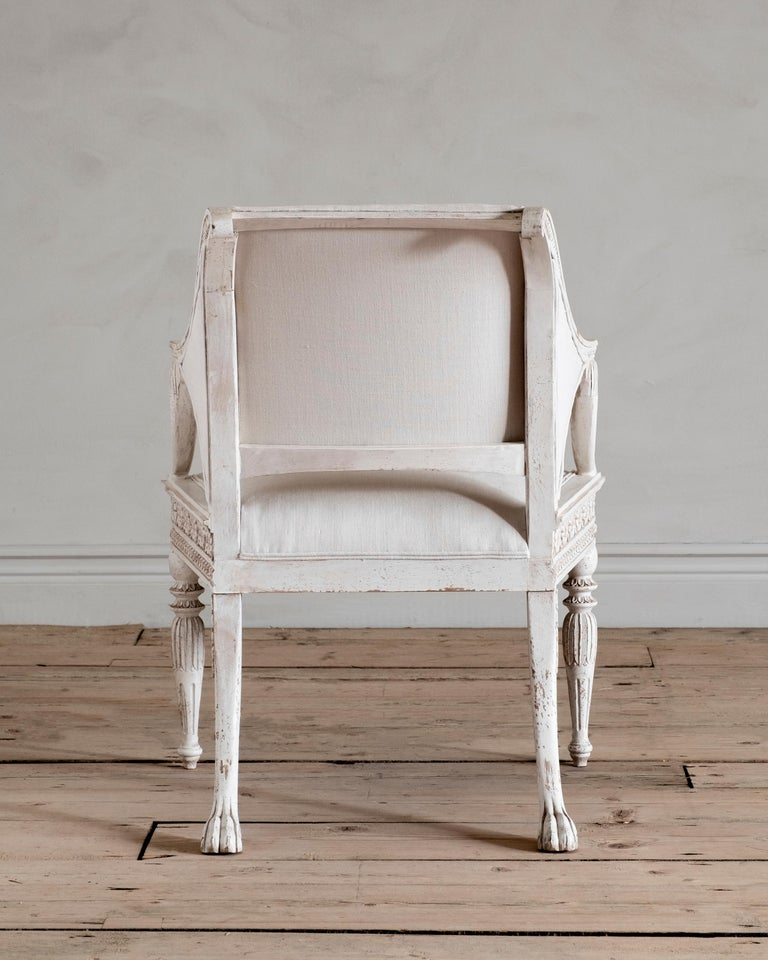 Contemporary Stockholm, Gustavian Style Armchair For Sale