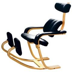 Stokke 1984 Peter Opsvik Duo Balans Balance Gravity Lounge Chair