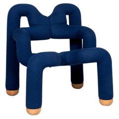 Stokke Ekstrem Fabric Armchair Blue Modern