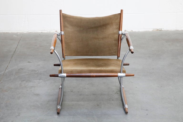 Scandinavian Modern 'Stokke' Lounge Chair by Jens H. Quistgaard for Nissen Langaa, 1960s, Signed For Sale