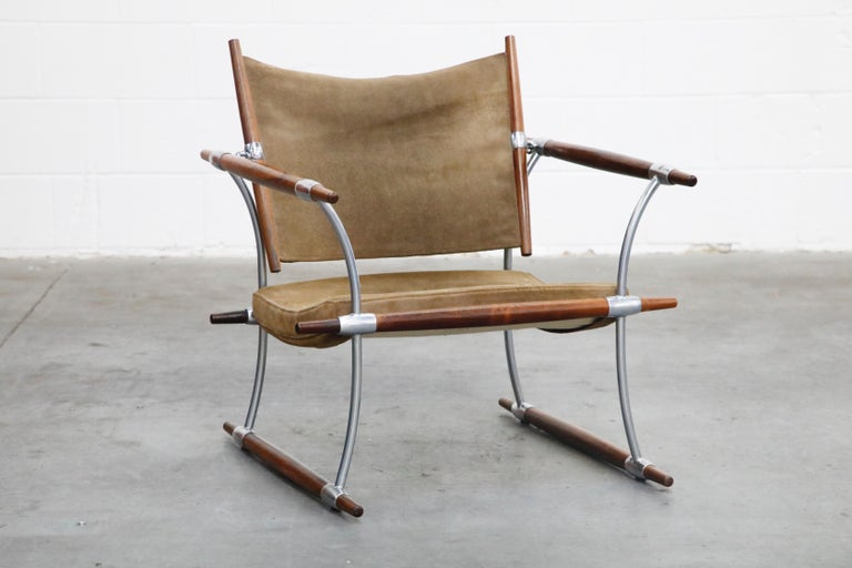 Danish 'Stokke' Lounge Chair by Jens H. Quistgaard for Nissen Langaa, 1960s, Signed For Sale