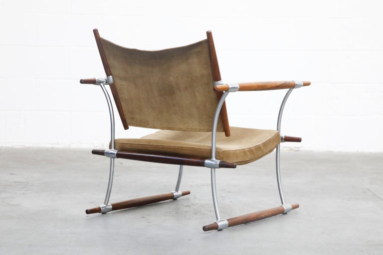 'Stokke' Lounge Chair by Jens H. Quistgaard for Nissen Langaa, 1960s, Signed For Sale 1