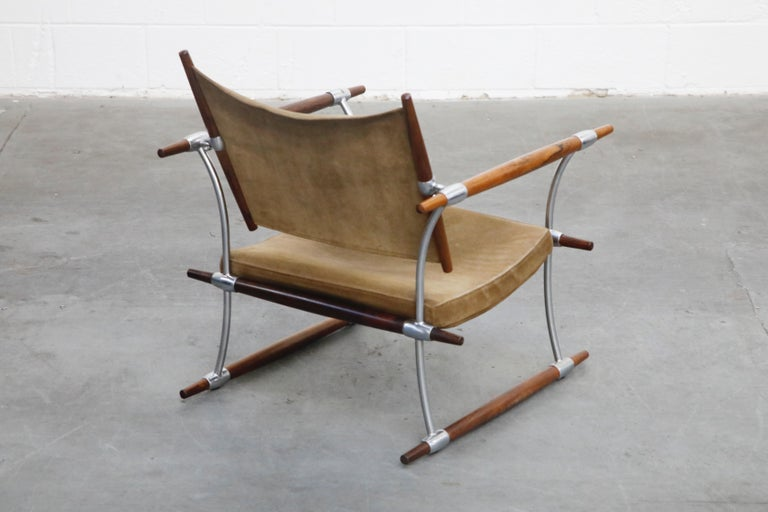 'Stokke' Lounge Chair by Jens H. Quistgaard for Nissen Langaa, 1960s, Signed For Sale 2