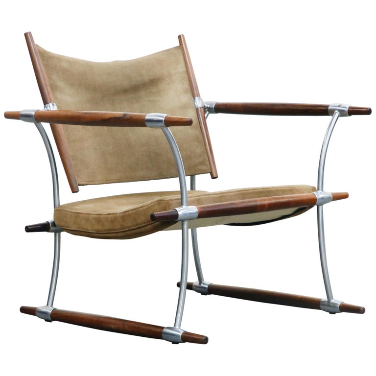 'Stokke' Lounge Chair by Jens H. Quistgaard for Nissen Langaa, 1960s, Signed For Sale