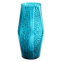 Stolle-Nieman 'Attributed' Hexagonal Vase with Bubbled Texture, 1970s