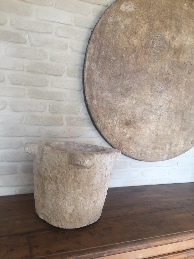 Stone 17th Century Mortar For Sale 3