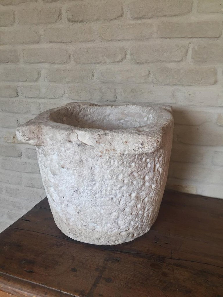 Stone 17th Century Mortar For Sale 2