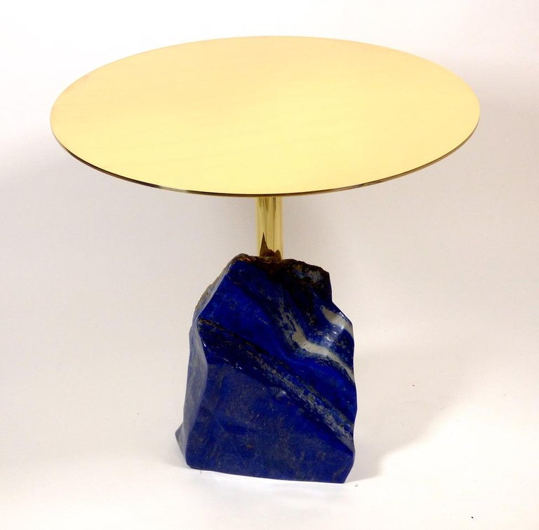 Brass Stone Age Gueridon by Studio Superego, Italy For Sale