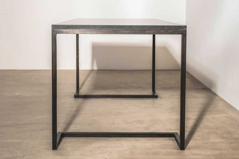 British Stone and Brass Desk with Honed Granite Top by John Pawson For Sale