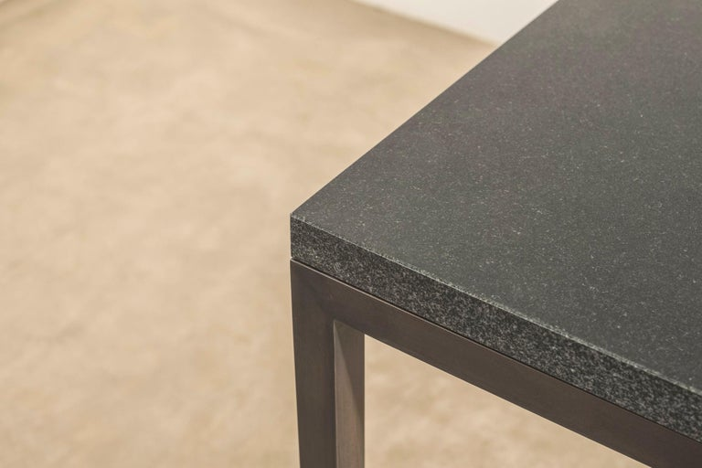 Stone and Brass Desk with Honed Granite Top by John Pawson In New Condition For Sale In London, GB
