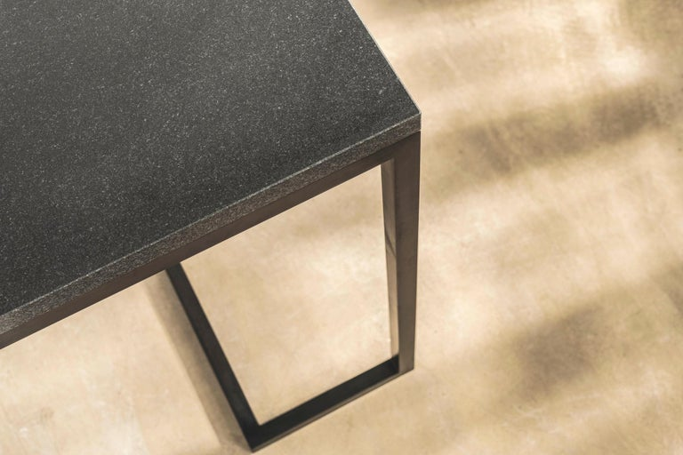 Stone and Brass Desk with Honed Granite Top by John Pawson For Sale 3