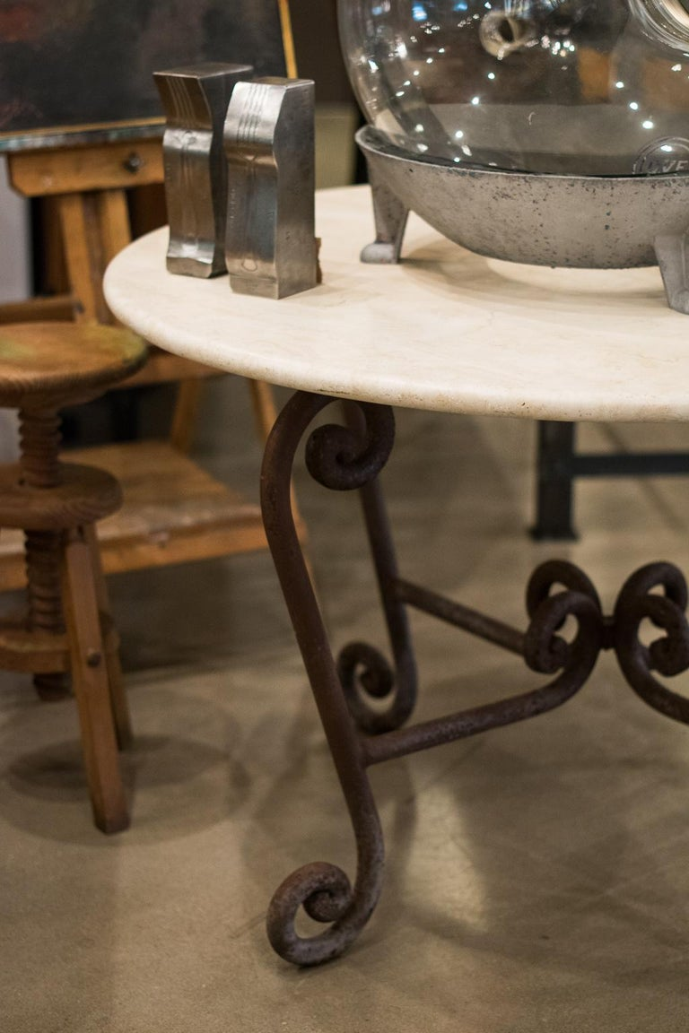 20th Century Stone and Iron Center Table