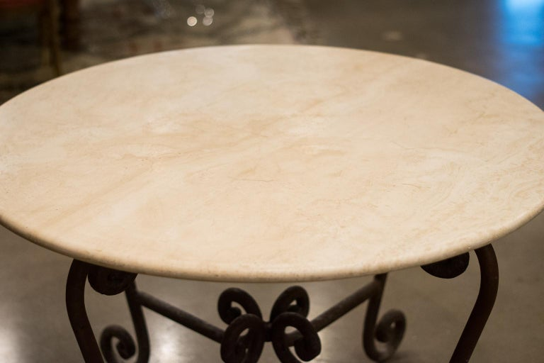 Stone and Iron Centre Table For Sale 1