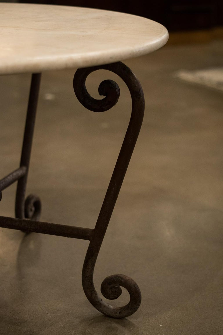 Stone and Iron Centre Table For Sale 3