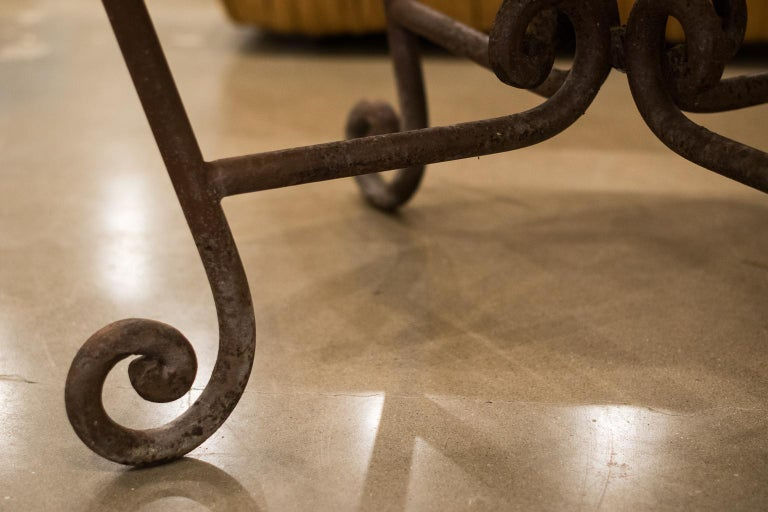 Stone and Iron Centre Table For Sale 5