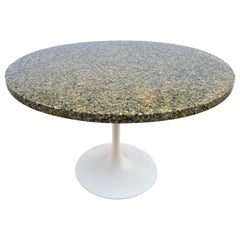 Stone and Resin Round Table in the Style of Pierre Giraudon