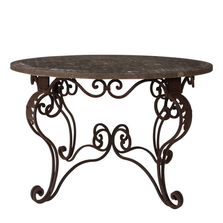 Stone and Tile Top Garden Table