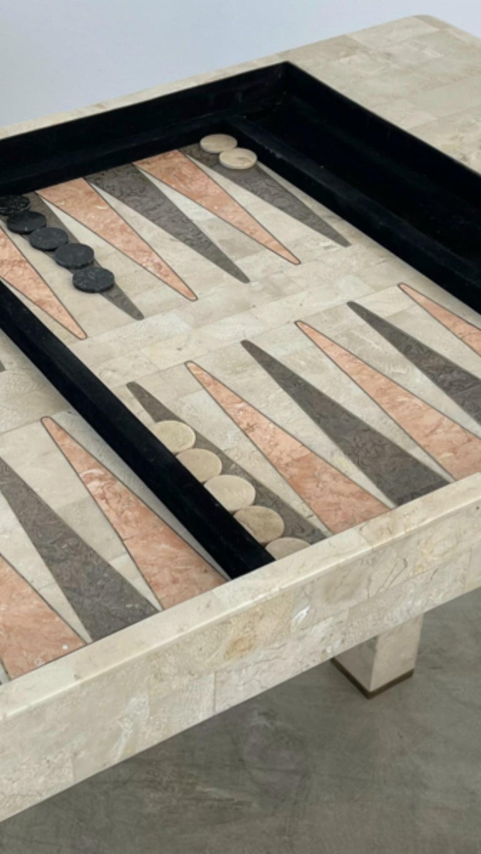Stone Backgammon/Checkers Table For Sale 5