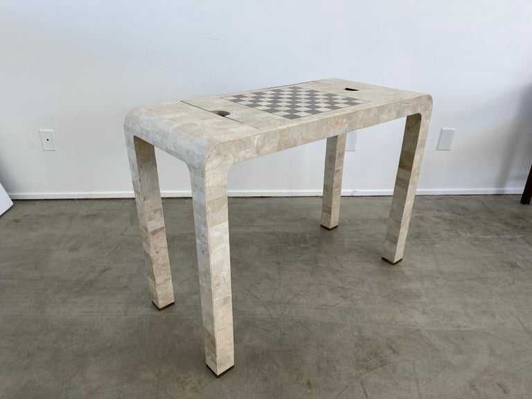 Stone Backgammon/Checkers Table For Sale 8