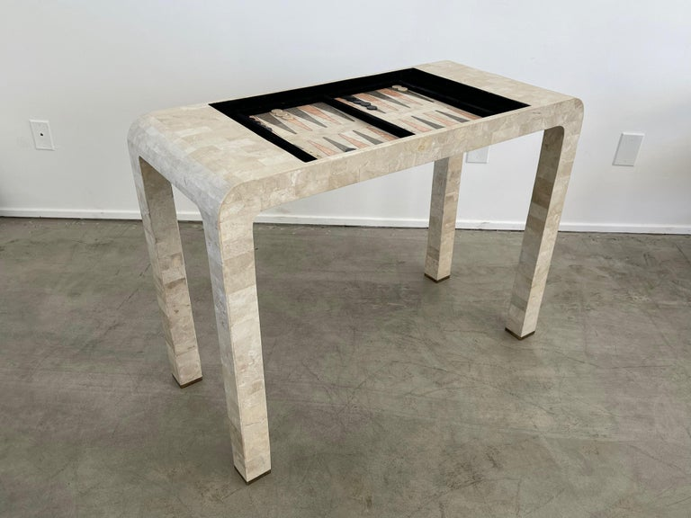 American Stone Backgammon/Checkers Table For Sale