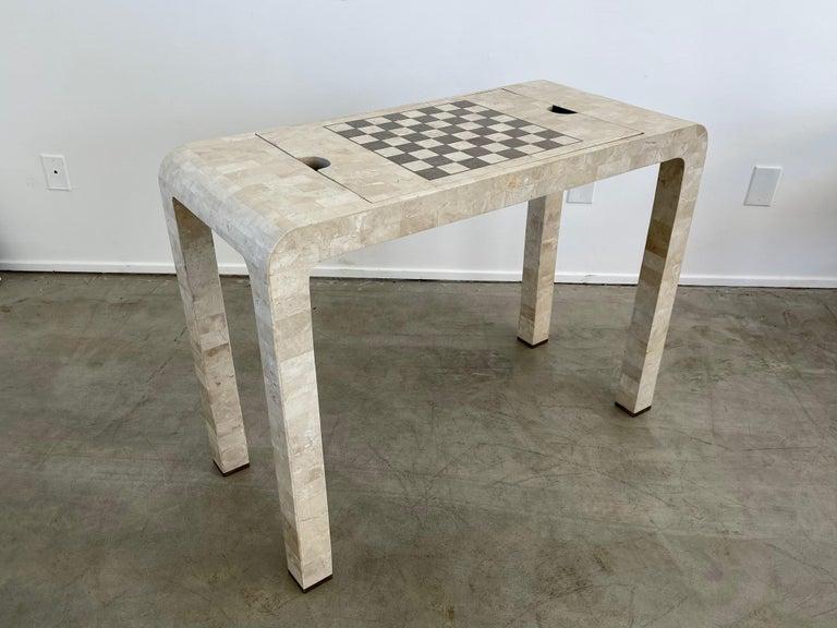 Stone Backgammon/Checkers Table For Sale 1