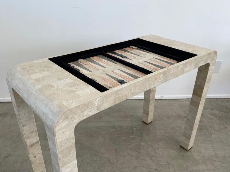 Stone Backgammon/Checkers Table For Sale 2