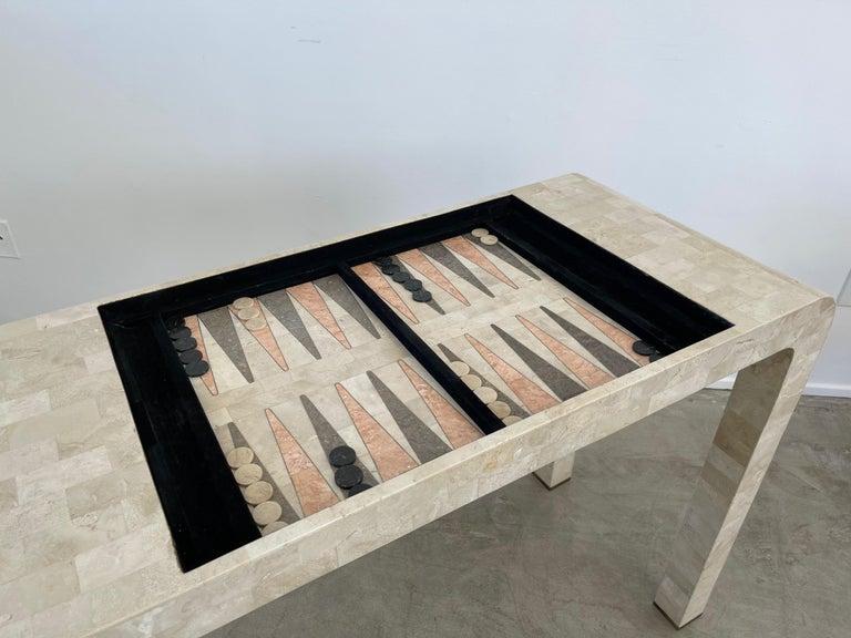 Stone Backgammon/Checkers Table For Sale 3