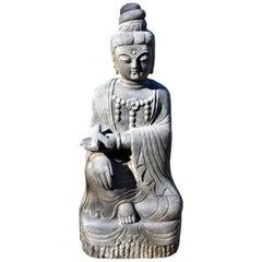 Stone Bodhisattva Statue Kwan Yin as an Teacher