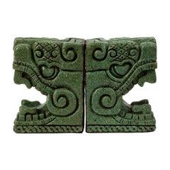 Stone Bookends Pre Columbian Style by Michael Zarebski for Industrias Creativas