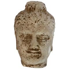 Stone Buddha Head Sculpture, 20th Century