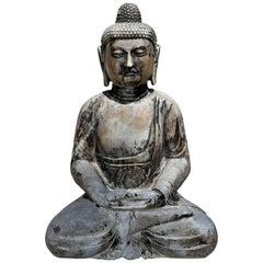 Stone Buddha Large Solid Sitting Statue