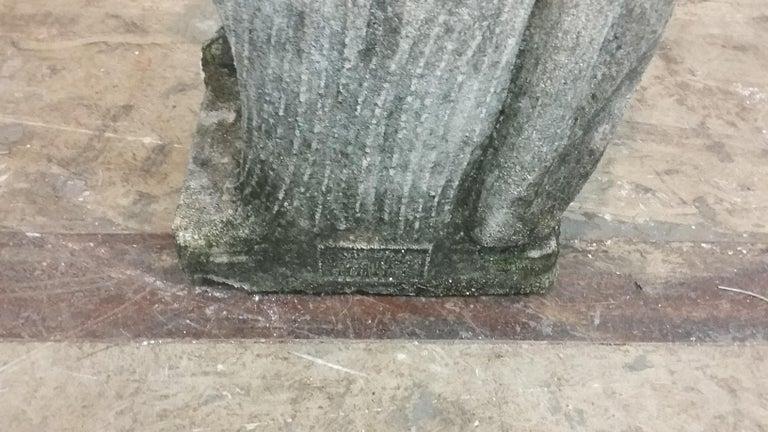 20th Century Stone Cherub Statue For Sale