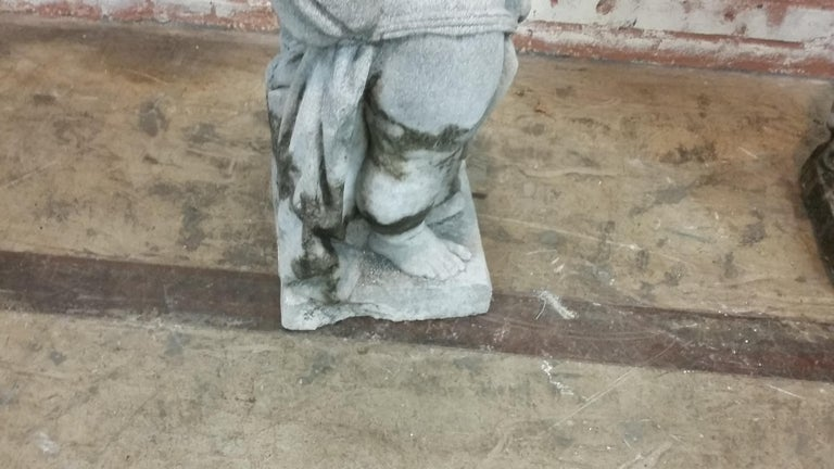 Stone Cherub Statue For Sale 1