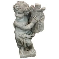 Stone Cherub Statue