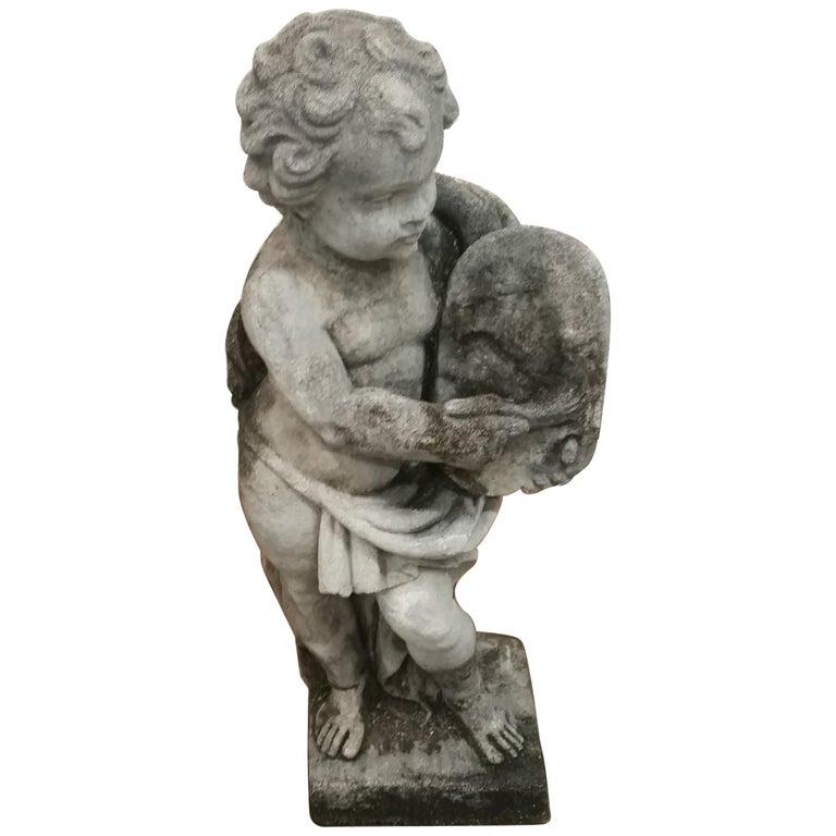 Stone Cherub Statue For Sale