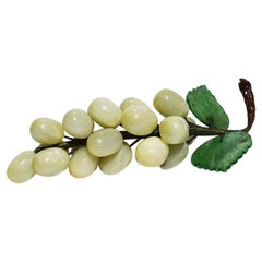 Stone Cluster of Grapes in Jade Green, Brown and Light Green Midcentury